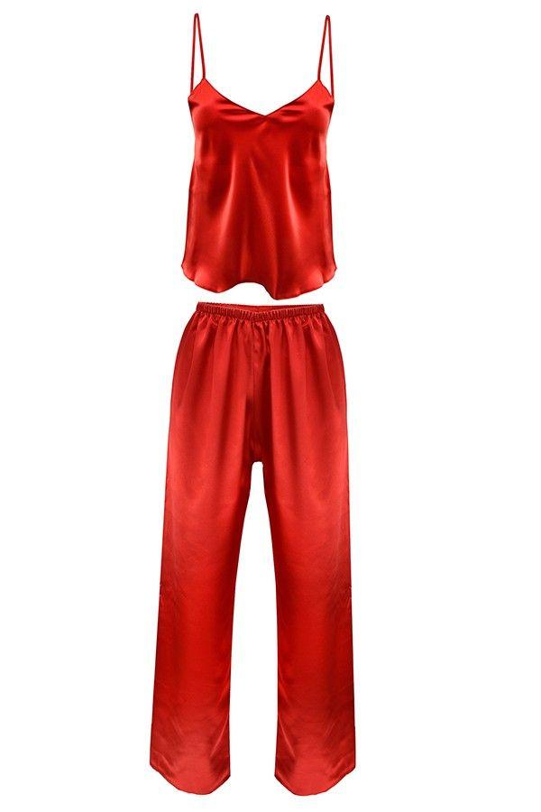Szatén pizsama több színben