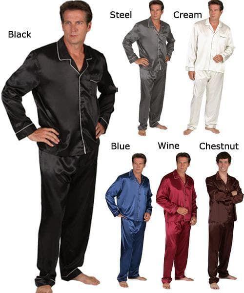 Férfi szatén pizsama